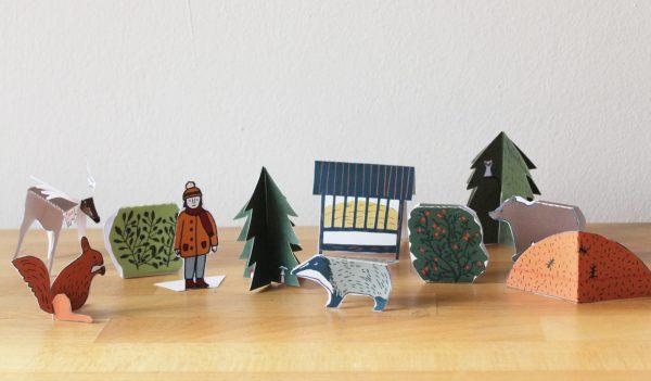 LES_24 papírových modelů